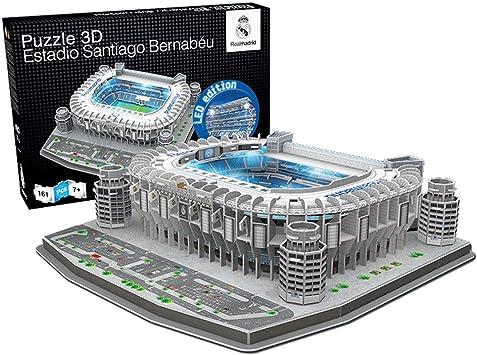Estadio Santiago Bernabeu Led Edition Real Madrid Cf Nanostad Puzzle 3d Producto Oficial Licenciado Amazon Es Juguetes Y Juegos