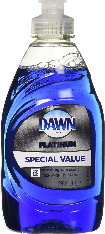 Dawn Ultra Platinum Dishwashing Soap 8 Oz Trial Size, Refreshing Rain Scent
