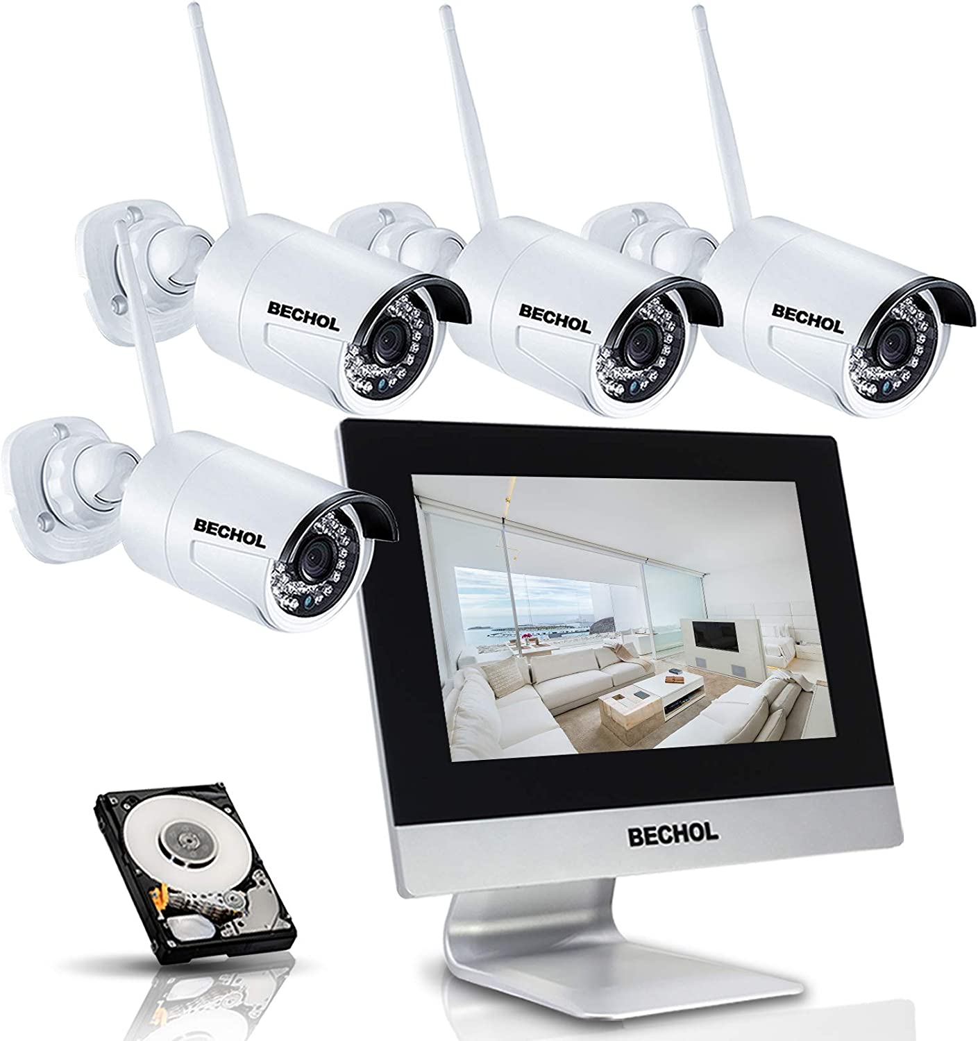 Wireless Security Camera System All in one 10.1