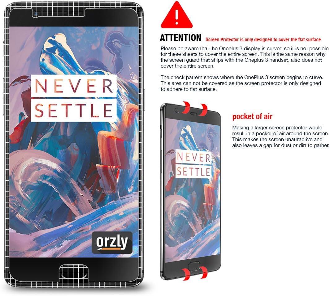 Protectores de Pantalla OnePlus 3 / OnePlus 3T, Orzly® Multi-Pack de 5 Protectores de Pantalla para OnePlus3 y OnePlus3T (Modelo 2016 Teléfono Móvil): Amazon.es: Electrónica