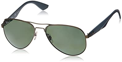 9d010db04a Ray-Ban METAL MAN SUNGLASS - MATTE GUNMETAL Frame POLAR GREEN Lenses 59mm  Polarized