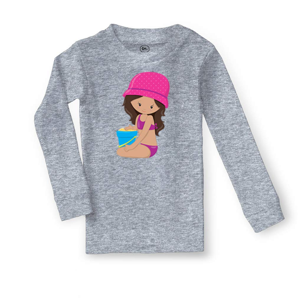 Girl Plays Sand S Cotton Crewneck Boys-Girls Sleepwear Pajama 2 Pcs Set