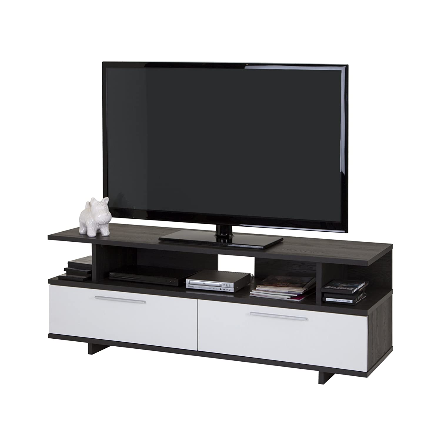 South Shore Furniture Reflekt Collection, TV Stand, Gray, Oak 4337677