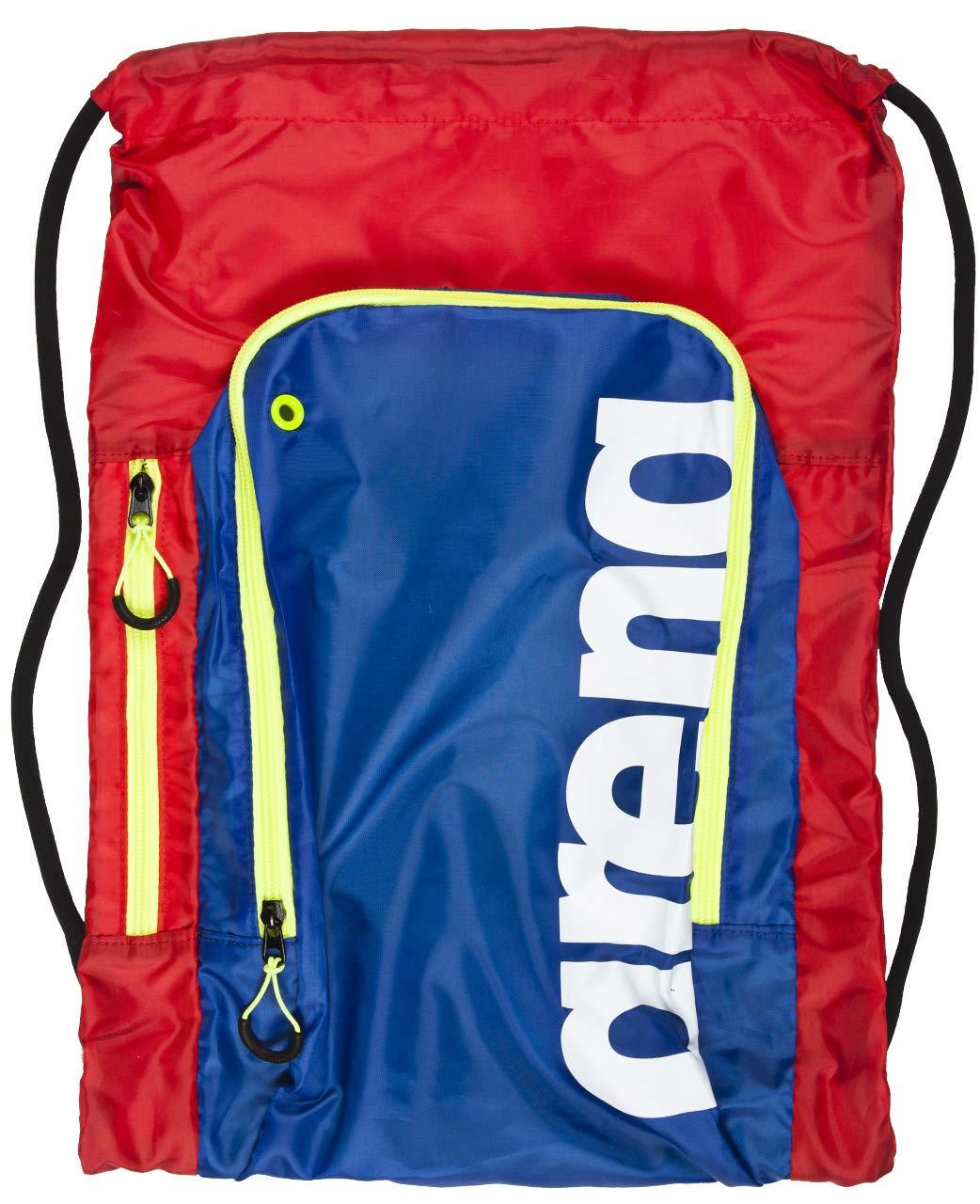 Arena Fast Sack Swim Drawstring Backpack, Red/Blue