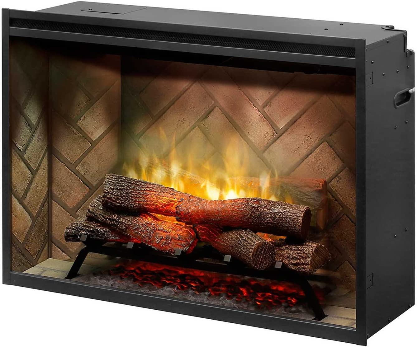 DIMPLEX NORTH AMERICA REVILLUSION Electric Fireplace, Gloss Black