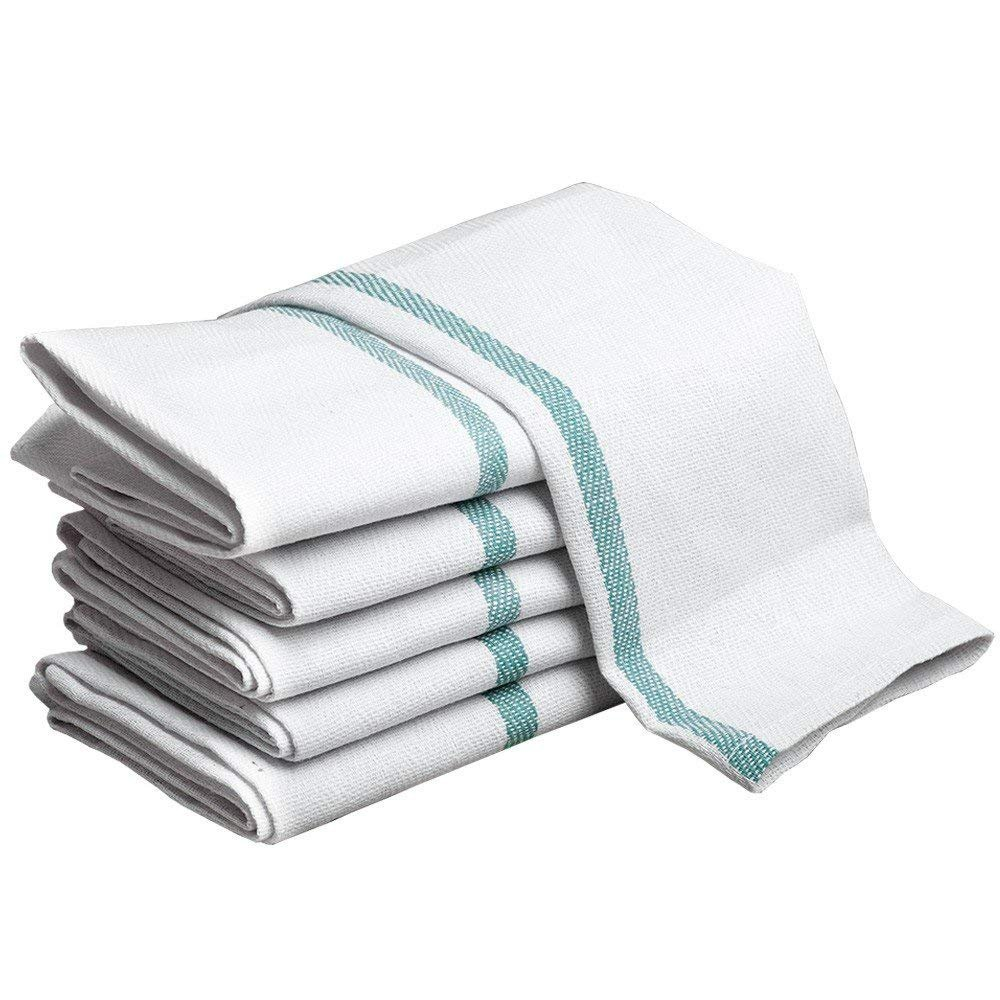 Kitchen Towels Dish Cloth (36 Pack) Machine Washable Cotton White Kitchen Dishcloths Towel Tea Towels (15 x 25 Inch) by Raymond Clarke Collection (36)