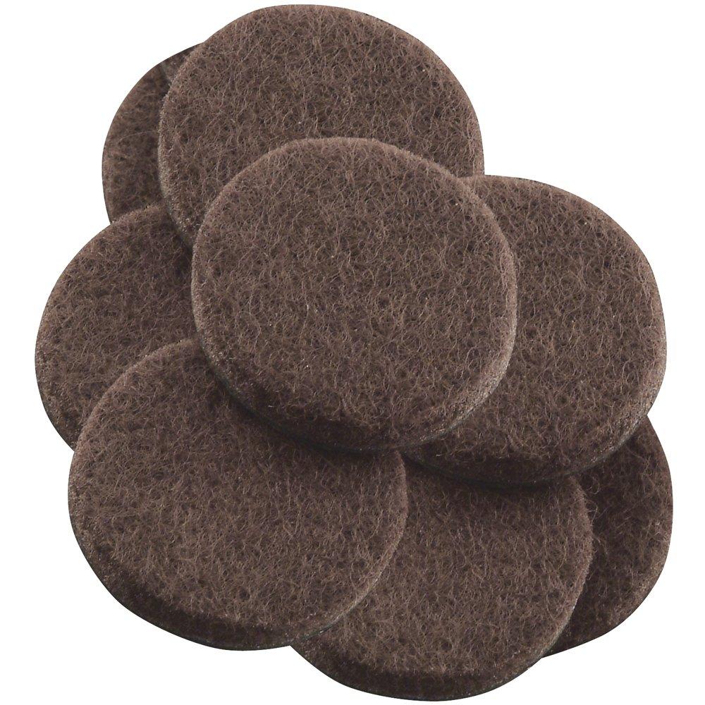 Self-stick 1 'muebles almohadillas de fieltro para superficies duras (16 piezas) –  marró n, redondo, marró n, 4729395N marrón Waxman
