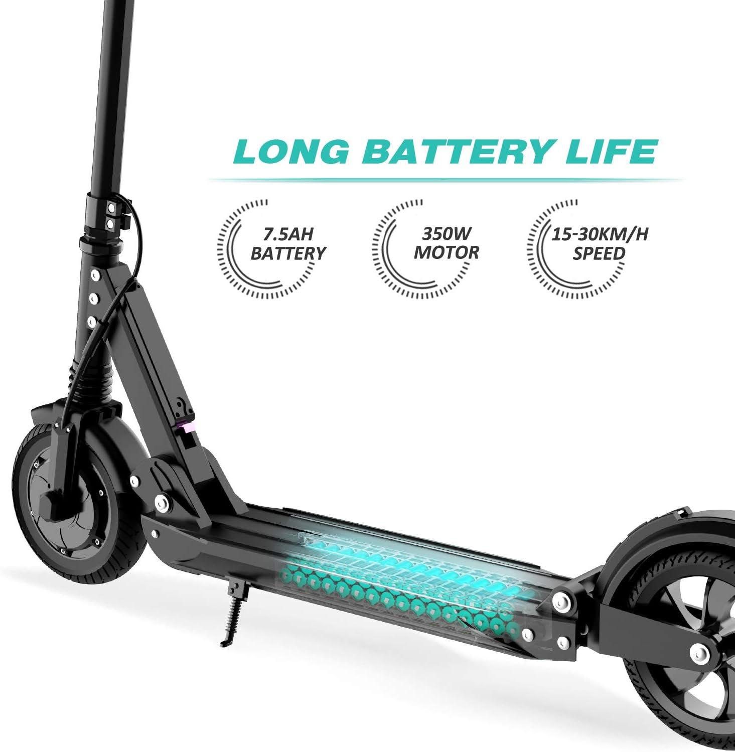 con Pantalla LCD GeekMe Patinete El/éctrico Scooter El/éctrico hasta 30 km//h Scooter El/éctrico PlegableBater/ía Li-Ion 7,5 A Carga m/áxima 120 kg para Adultos y Ni/ños