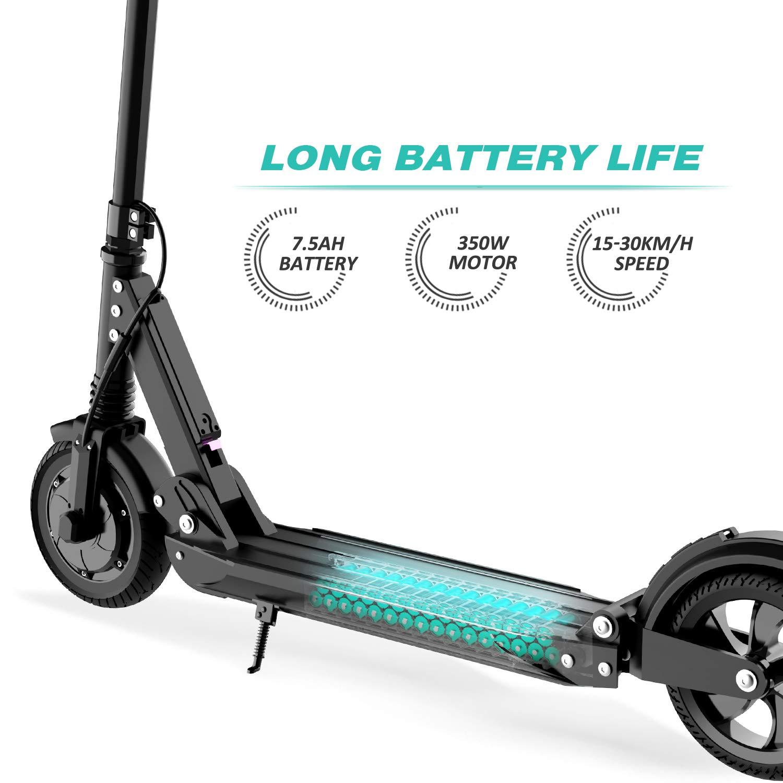 GeekMe Patinete Eléctrico Scooter Eléctrico hasta 30 km/h | Scooter Eléctrico PlegableBatería Li-Ion 7,5 A | con Pantalla LCD | Carga máxima 120 kg ...