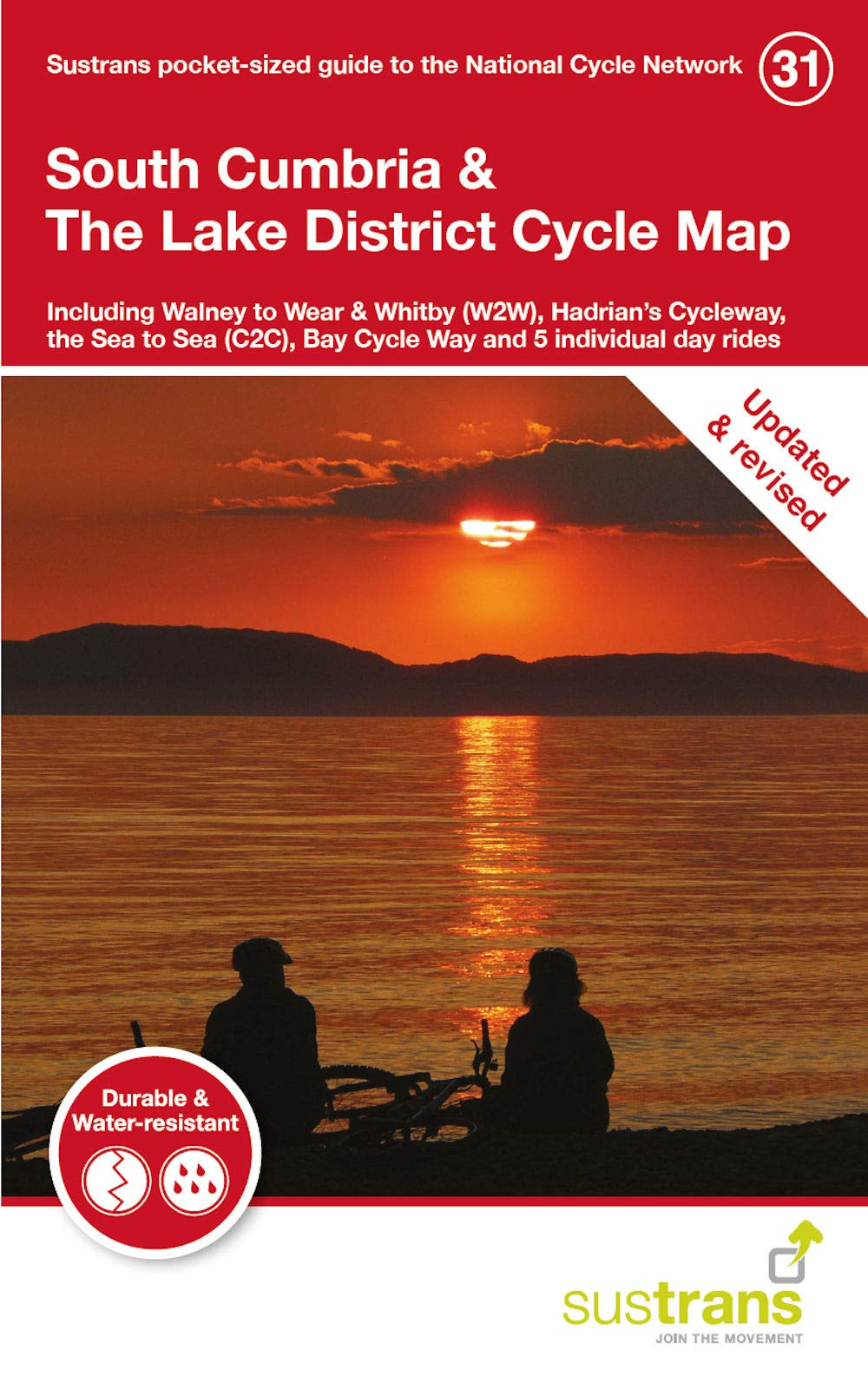 map of south lake district South Cumbria The Lake District Cycle Map Including Walney To map of south lake district