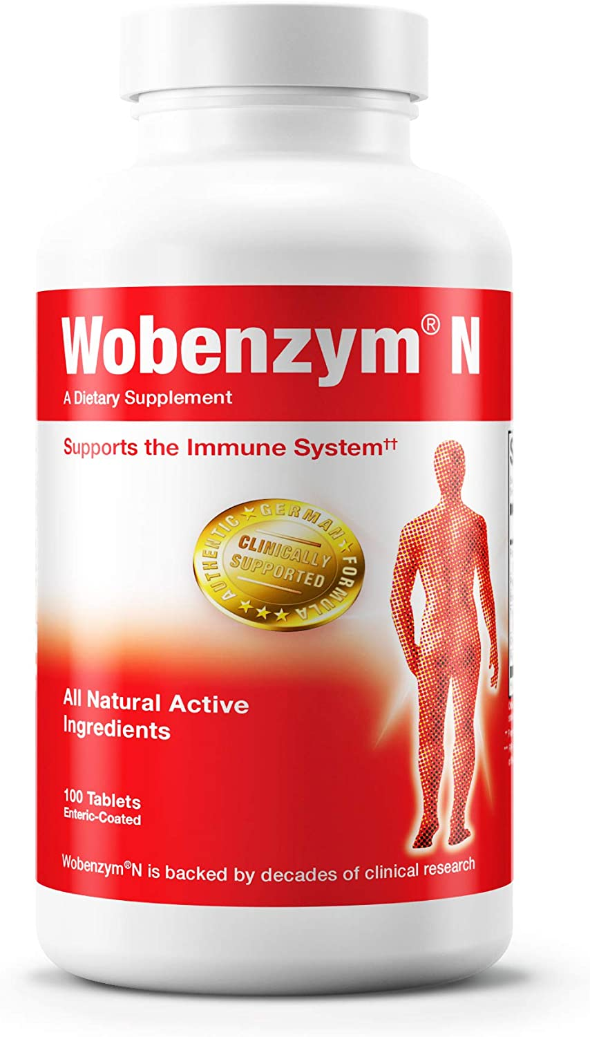 Wobenzym N | Authentic German Supplement for Immune Support, Digestive Enzymes, and Joints* | 100 Tablets