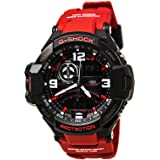 Casio G-Shock Aviation Black Dial Red Resin Quartz Men's Watch GA1000-4B