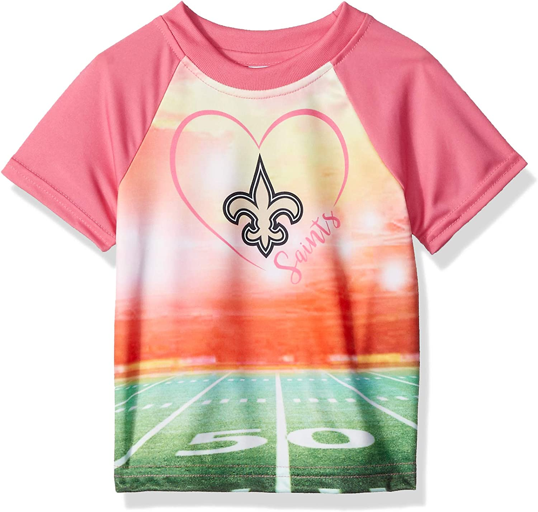 3T Team Color NFL New Orlean Saints Girls Short Sleeve T-Shirt