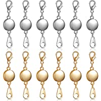 4pcs Magnet Closure Jewelry Closures with Eye On Round Brass Connectors 11mm Silver Chain Closure Magnetic Closures for Chains Bracelet