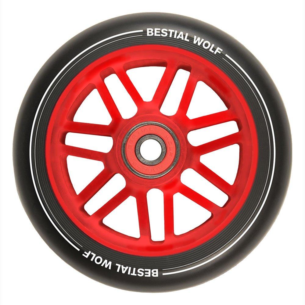 BESTIAL WOLF Rueda Shire PU Color Negro y Core Rojo ...