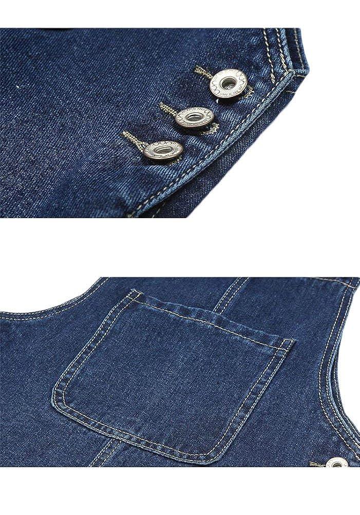 AvaCostume Womens Adjustable Shoulder Strap Denim Bib Overall Dress