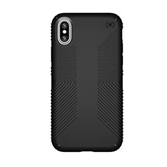 Speck Products I Phone X Case, Presidio Grip, Black/Black by Speck