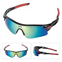 GOTSC Polarized Sports Sunglasses for men women Cycling running driving Baseball Fishing Golf Superlight Frame