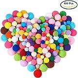 BENECREAT 1 scatola (400pcs) Pon Pon mestiere Che fa assortiti Formati e colori Pom Poms di Alta qualità elastici di buona qualità Creativo mestiere Fai da te Materiale
