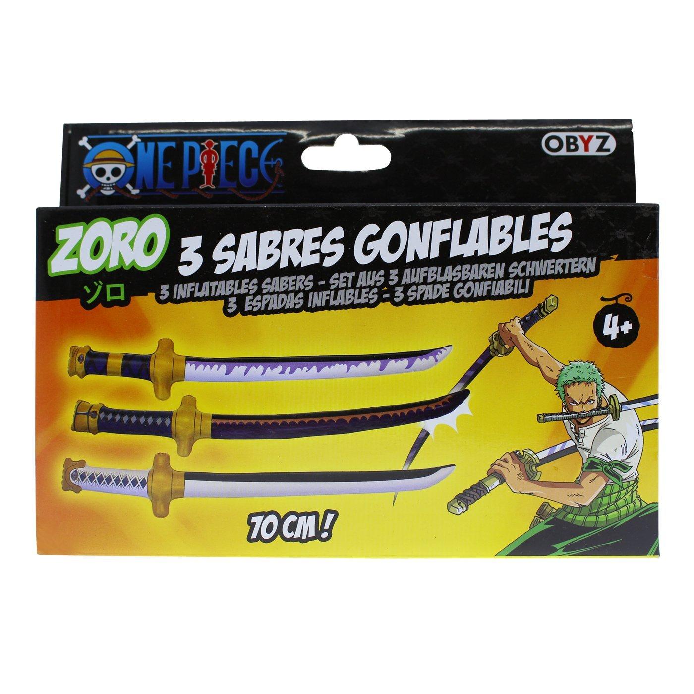 One Piece Cosplay Lorenor Zorro aufblasbare Schwerter Abysse Corp