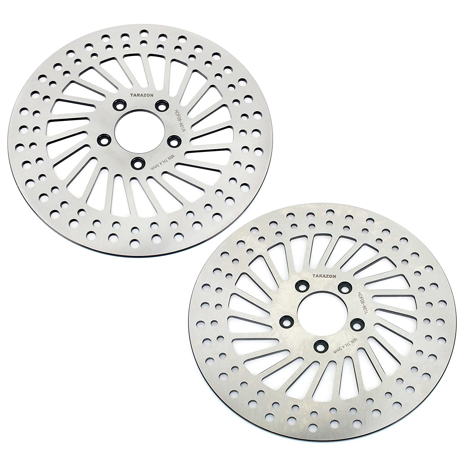 TARAZON 1 Pair Front Brake Rotors for Harley Tour Touring Bike Electra Glide Classic Standard Road Glide Custom Classic Road Glide Street Glide 2008-2013 Thai-Racing Co. Ltd