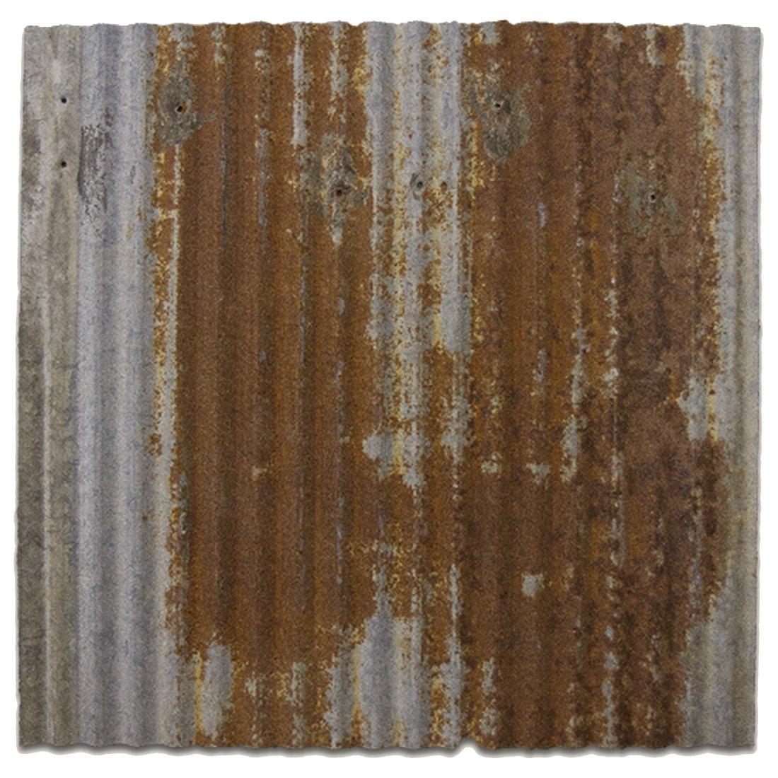 CeilingConnex Upcycled 2'x2' Dakota Barn Tin Ceiling Tile - Marjority Rust - Works with Standard Drop Grid