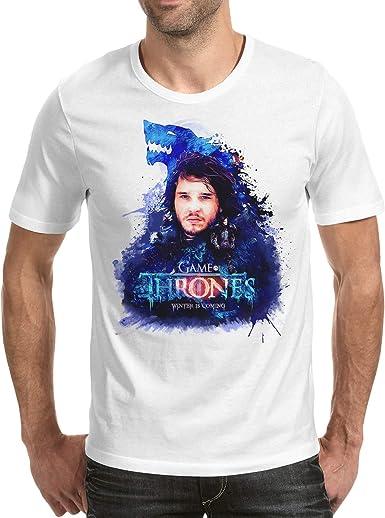 Camiseta Hombre - Unisex Serie Televisión Juego de Tronos - Game of Thrones, Jon Nieve: Amazon.es: Ropa y accesorios