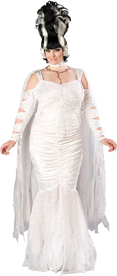 60s 70s Plus Size Dresses, Clothing, Costumes Monster Bride Costume $107.46 AT vintagedancer.com