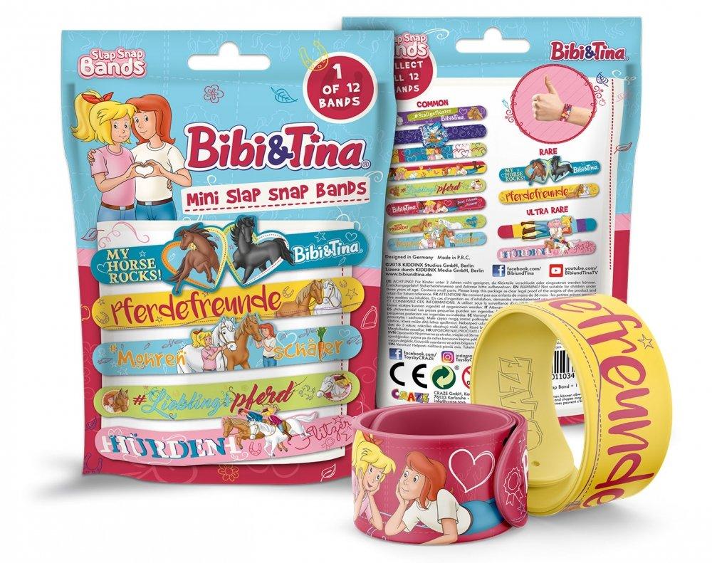 Bibi& Tina - Mini Slap-Snap-Band - Sortiert. - HEX-HEX Auf die Pferde, Fertig, Los! Los! Craze