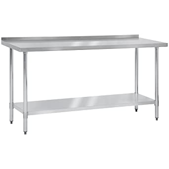 Amazon.com: Mesa de trabajo de acero inoxidable Best Choice ...