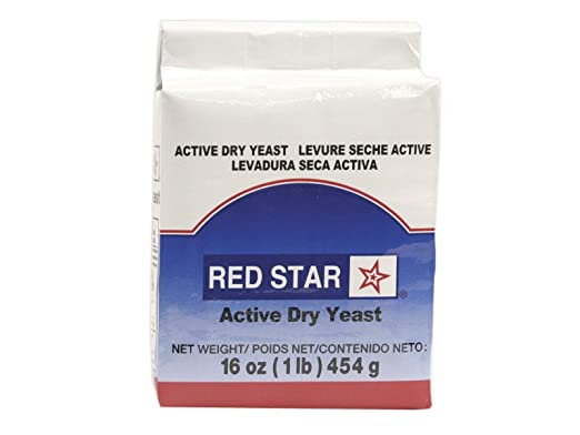 Red Star levadura seca activa 16 oz (1 libra) tamaño: Amazon ...