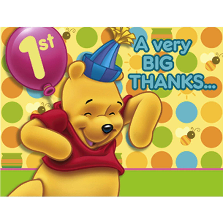 caliente Winnie the Pooh Balloon 1st Birthday Thank You You You Notes w/ Envelopes (8ct) by Hallmark  Envíos y devoluciones gratis.
