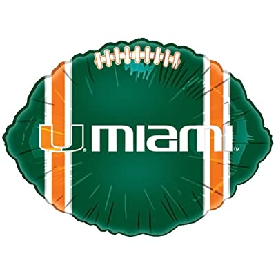 "Mayflower Distributing - Miami Hurricanes Foil Football Balloon - , 18"": Clothing"