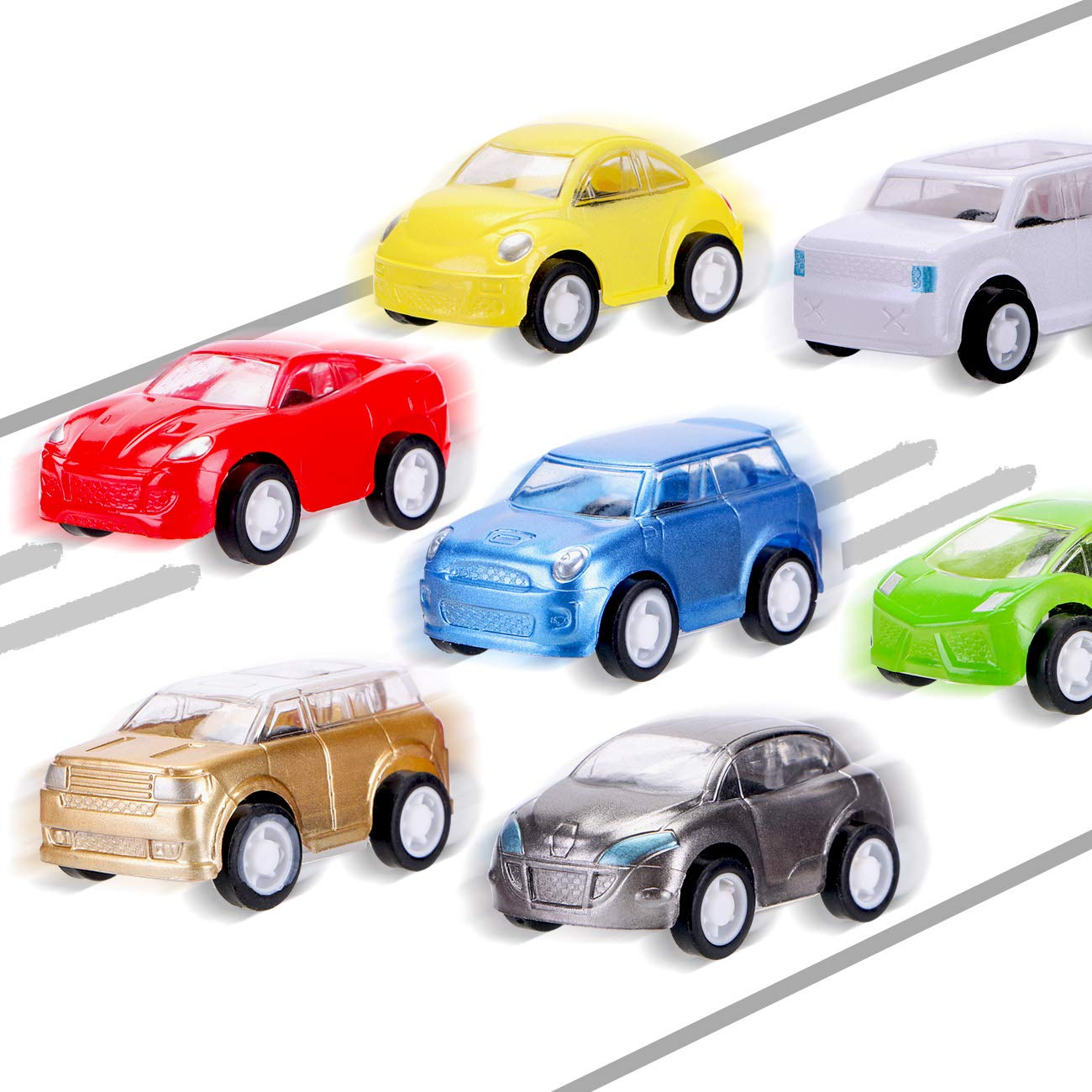 12 Pcs Filled Easter Eggs with Toy Cars,3.15''-Easter Pary Favor-Plastic Prefilled Eggs with Mini Pull Back Vehicles Toys for Toddlers by Sizonjoy (Image #3)