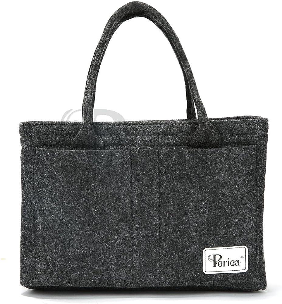 Periea Premium 'Roxy' Felt Handbag Organizer Purse Insert – Available in 3 Sizes