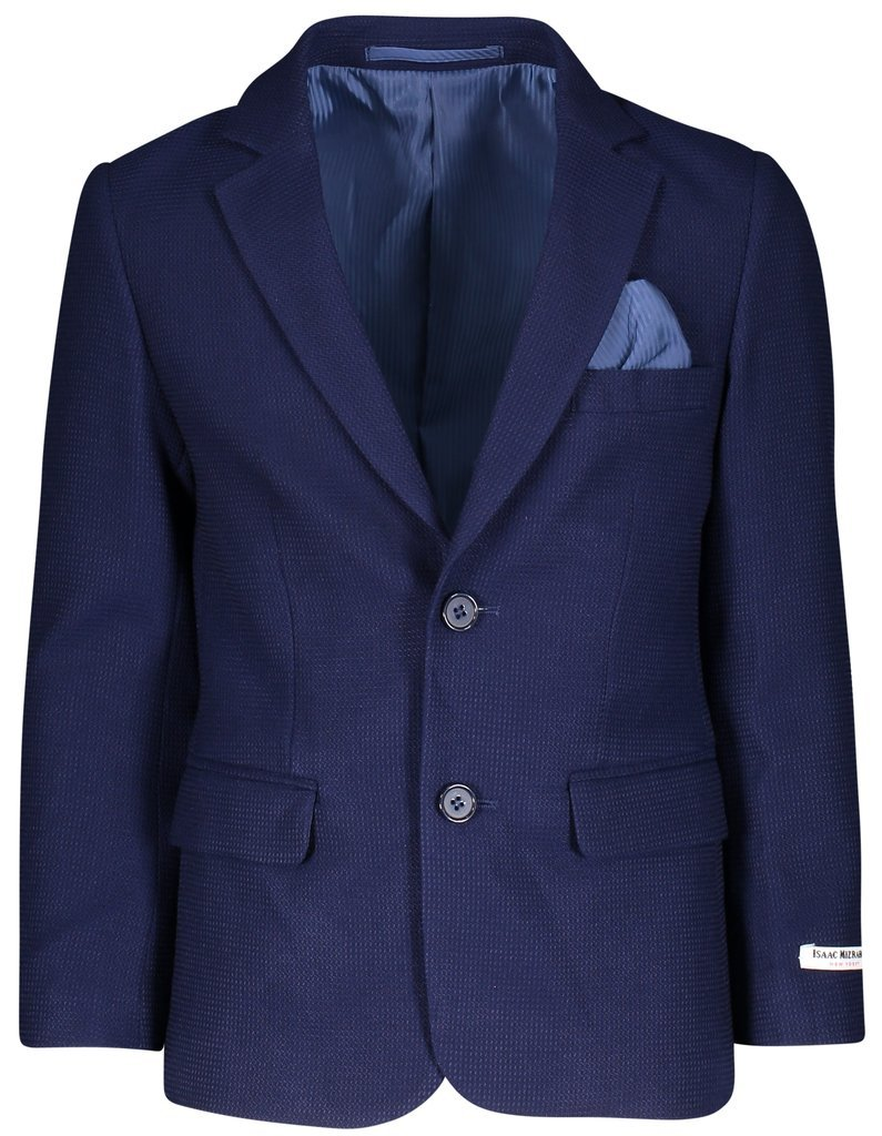 Isaac Mizrahi Boy's BL8141 Modern Fit Blazer Single Brested Knit Sport Coat - Navy - 20 by Isaac Mizrahi