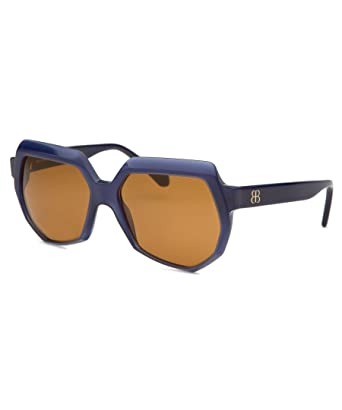 3f0481c5c65 Image Unavailable. Image not available for. Color  Balenciaga Sunglasses  0105 S Blue Ruthenium Shades