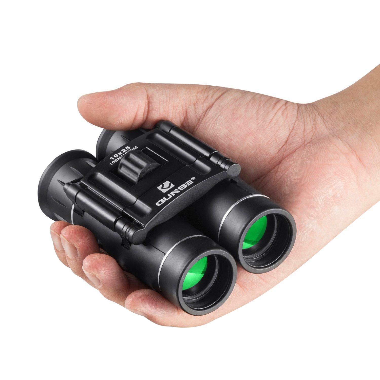 Mini Prismáticos QUNSE, Lentes ópticas Transparentes, Ultra-visión, Diseño Compacto de, Apto para Guardar en un Bolsillo o en tu equipaje QUNSE-X28