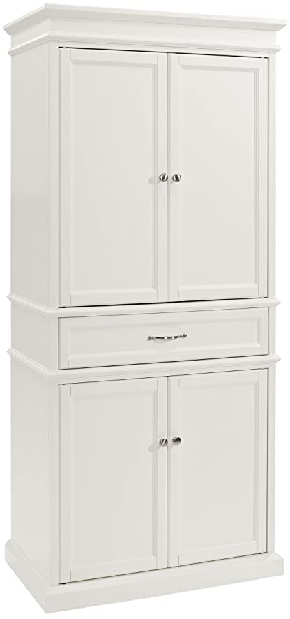Amazon.com: Crosley Furniture Parsons Pantry Cabinet - White ...