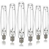 iPower GLBULBH1000X6 6-pack Hydroponic 1000 Watt Horticulture Flowering Pressure Sodium HPS Grow Light Bulb Lamp, High PAR En