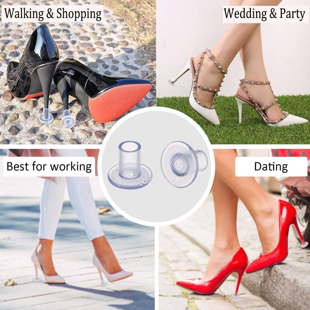Ocasiones Formales Bodas Tope para Zapatos de Mujer Carreras peque/ño//Mediano//Grande ESRISE Protectores de Tacones Altos