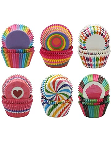50Pcs Disposable Cake Baking Paper Cup Cupcake Muffin Cases Fit Home Party LD