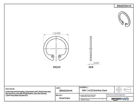 150pcs Metric DIN 472 M29 Internal Retaining Ring Spring Steel Phosphated Ships Free in USA by Aspen Fasteners ASMM11451