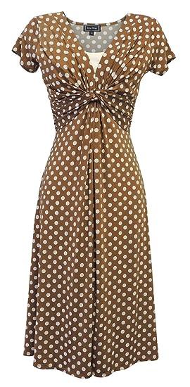 aa1f622d56e New Ladies Wartime Vintage Style WW2 Land Girl 1940s Polka Dot Tea ...