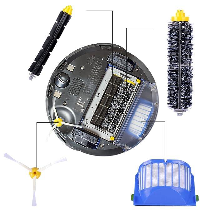 12 Pcs Kit de Accesorios de Repuesto para iRobot Roomba Serie 600 605 610 615 616 620 625 630 631 632 639 650 651 660 670 680 681 por KEEPOW: Amazon.es: ...
