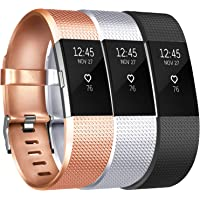 Vancle Sport Bands Compatible with Fitbit Charge 2, 3 Pack