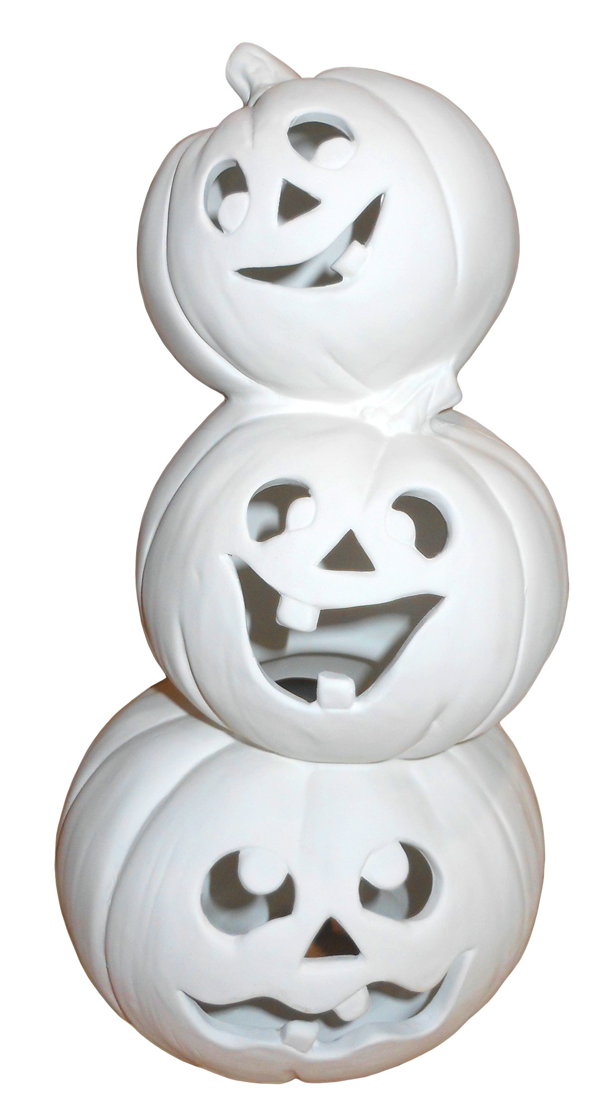 Jack-O-Stack Light up Jack-O-Lanterns - Paint Your Own Halloween Ceramic Keepsake