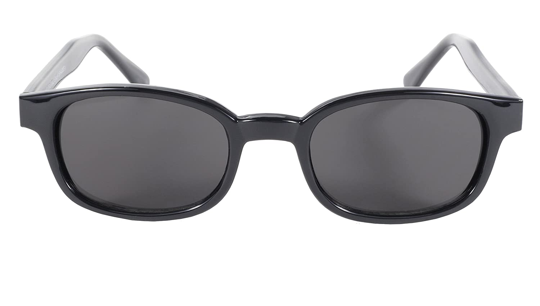 Pacific Coast Original KDs Biker Sunglasses (Black Frame/Smoke Lens)