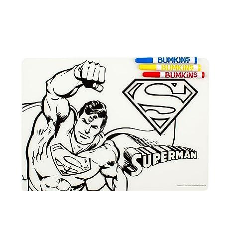 Bumkins Reusable Silicone Coloring Placemat Dc Comics Superman