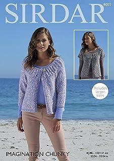 d0ea6c4b7 Sirdar 8055 Knitting Pattern Womens Cardigans in Sirdar Imagination Chunky